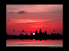 Angkor Wat Dreams (Heaven`s Gate (John)) Tags: pink vacation sky black art history topf25 stone architecture sunrise temple cambodia ruin dramatic angkorwat peopleschoice 50faves bronly 25faves johndalkin heavensgatejohn aplusphoto dreamssiemreap
