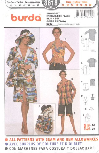 Burda beach wear pattern