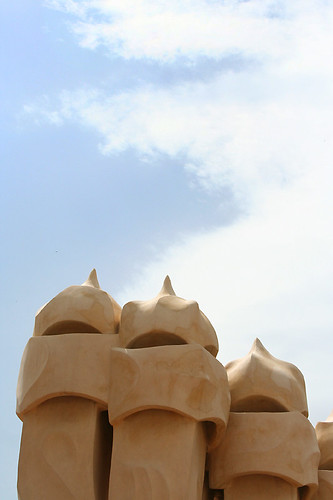 la pedrera: chimneys
