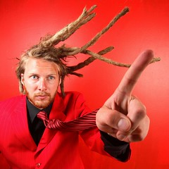 itsabird..its a plane (Perpetually) Tags: red portrait studio dreads mads dreadhead 1635l strobed