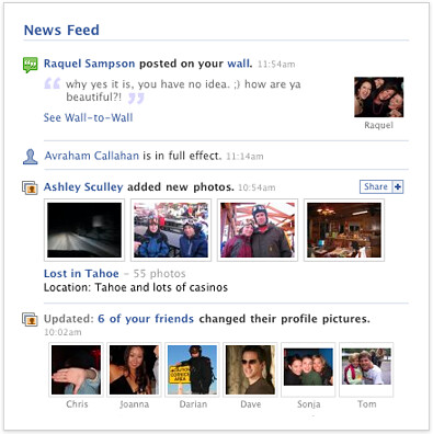 Facebook News Feed for friends