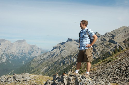 Scott Looking Out Towards Fortress Mountain from Opal Ridge
