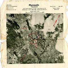 Crownhill: March 1941 (Plymouth Libraries) Tags: cornwall map aircraft nazi plymouth aerial devon photograph german target bomb blitz bombing reich devonport secondworldwar stonehouse luftwaffe plymstock saltash torpoint