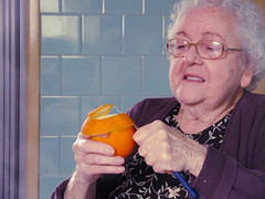 (mari korman) Tags: blue grandma orange v