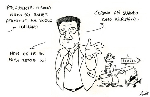 Novanta testate nucleari sul suolo italiano