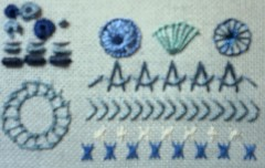July TAST stitches in blue