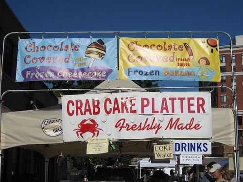 Food Signs at Clarendon Day 2007