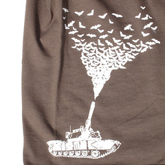 Bat Tank - Brown T-shirt Closeup