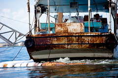This boat used to be White (Kris Krug) Tags: ted gulfofmexico slick gulf cleanup pollution oil environment bp spill oilslick skimmer oilspill gulfcoast skimming britishpetroleum sgoil tedx oilspew oilspillbp tedxoilspill birdpe oilspillshortlist ppsub