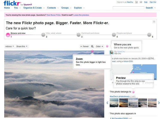 flickr new page