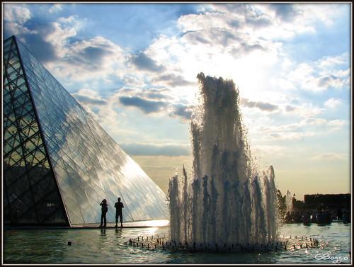 Atardecer en el Louvre
