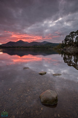 Friars Crag, Firey Red Last Light (James G Photography) Tags: autumn sunset red sky lake clouds reflections october lakes lakedistrict cumbria derwentwater keswick refelection friarscrag