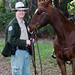 "California State Park Ranger ""Jeff"" Jeffrey Sears and his 21-year old quarter horse named Peter"