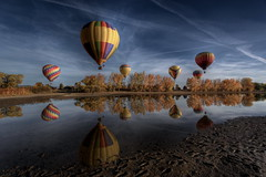 2010 Hot Air Balloon 396 (TVGuy) Tags: hot reflection water river colorado air balloon boulder