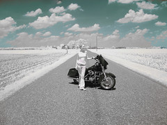 It works! (Surfactant) Tags: street ir infinity indiana harleydavidson infrared motorcycle glide colorir