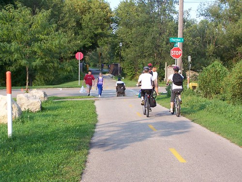 madison bike trail and road intersection by Luton, on Flickr