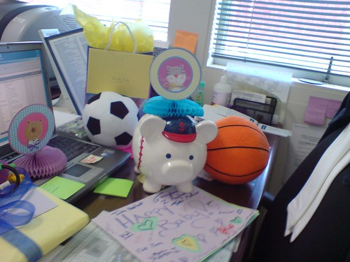 part of the desk