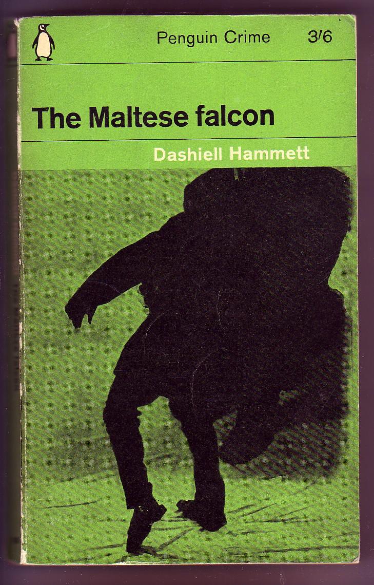 The Maltese Falcon by Dashiell Hammett, book cover.