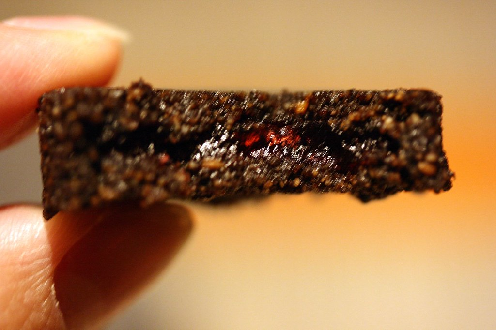 Innards of the Caraway and Raspberry cookie