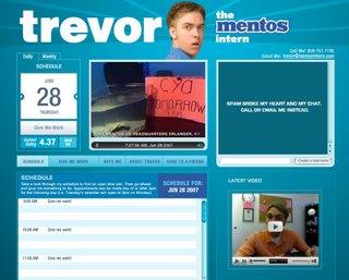 Trevor Mentos stagiaire