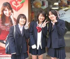 Konichiwa!!!! (Sakena) Tags: tokyo schoolgirl canonixus50