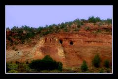 Red Rock Caves (~Dezz~) Tags: utah roadtrip holes caves zionnationalpark redrock nikon8800 familytrip drivebyshooting entrances nikoncoolpix