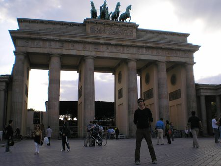 Puerta de Brandemburgo, de lejos