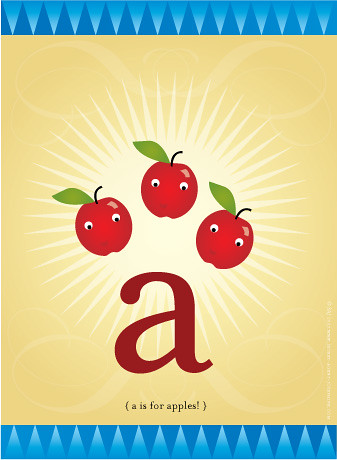 little a is for little apples!