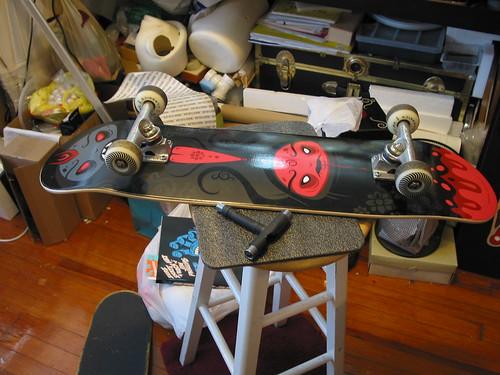 black lpotus skate deck