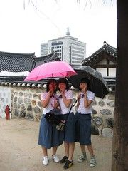 School girls at Namsangol Village