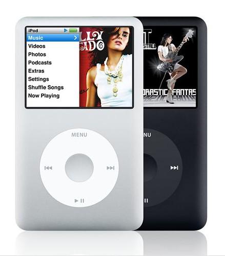 iPod classic negro y blanco