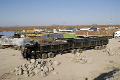 TRUCKING IN SOUTH AFRICA (Claude  BARUTEL) Tags: africa truck south border transport stop zimbabwe messina customs