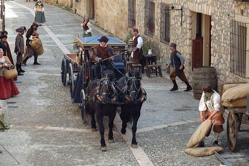 Carroza en la Calle Mayor