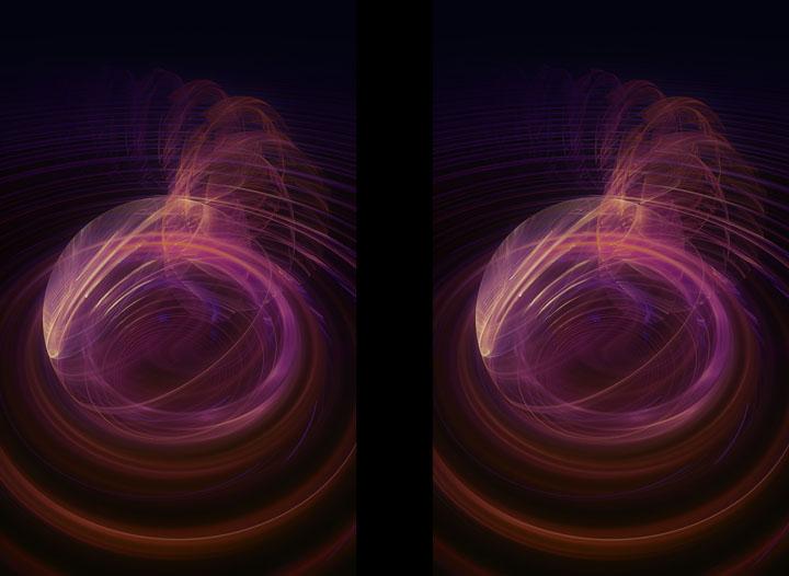 Fractal Art - Centripetal colour stereo by Nicholas M Vivian