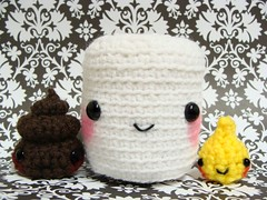PooPee Play Set (nottheally) Tags: white art pee japan set paper toy bathroom fire funny play handmade joke crochet toilet plush gift poop kawaii plushie gag poo piss etsy amigurumi plushy softy damask sutffy