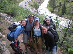Happy Climbers at Little Eiger Crag, Clear Creek