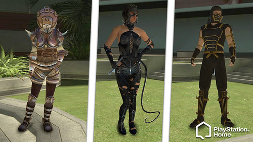 PlayStation Home costumes: ninja, Midnight Rogue, Aqua Suit