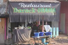 They love Obama in Africa (4) (Karin.Lakeman) Tags: africa restaurant african afrika obama afrikaans gabon barackobama barack obamania lastoursville