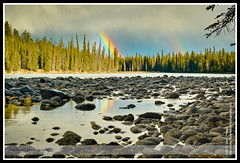 Double Rainbow over the Athabasca River
