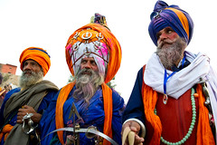 Colors of the Punjab (gurbir singh brar) Tags: colors march nikon group warriors sikhs turban sikh punjab 2010 turbans singh armed khalsa akali nihang nihangs holamohalla dumala  nikkor2470mmf28g  gurbirsinghbrar   nikond3s