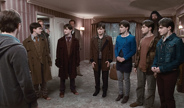 Harry Potter and the Deathly Hallows part 1 seven Potters