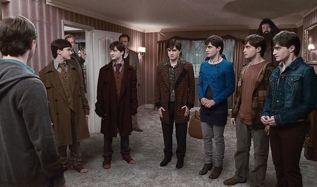 Harry Potter Y Las Reliquias De La Muerte Parte 1 Ron Hermione Y Los Gemelos Se Transforman En Los 7 Potters