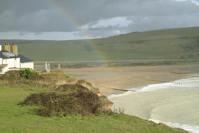 Rainbow at Cuckmere Haven