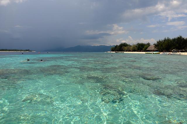 Beach in Gili Trawangan Island Lombok