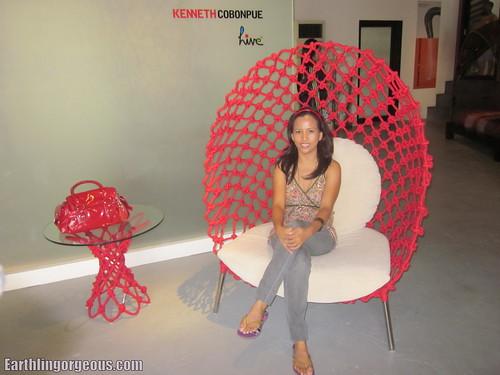 I sat on Brad Pitt's lounge chair (Dragnet)