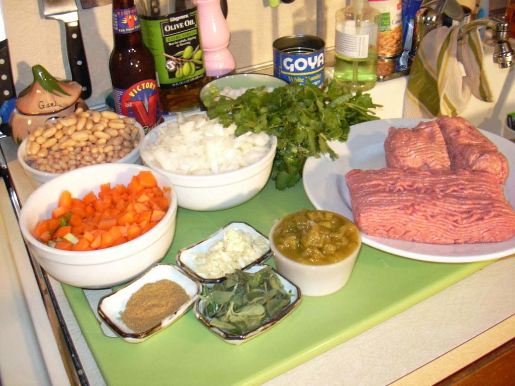 Posole White Bean & Turkey Chili Prep