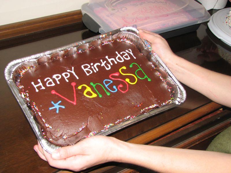 Vanessa's cake, chocolate on chocolate
