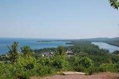 View of Copper Harbor, Michigan, Lake Superior...
