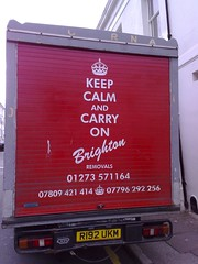 Keep Calm... (jaygooby) Tags: red brighton van removals