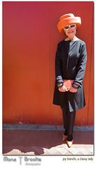Joy to the world (SFMONA) Tags: red portrait orange black vintage designer classy philanthropist ghiradellisquare supershot anawesomeshot galanos joybianchi helpersbazaar